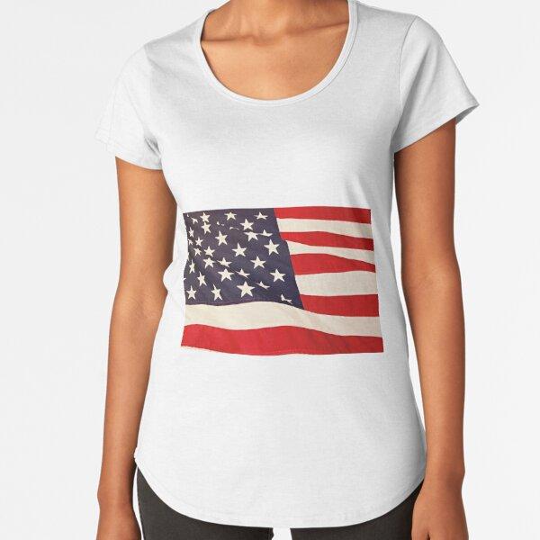 flag Premium Scoop T-Shirt