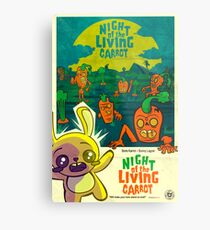Night of the Living Carrot! Metal Print