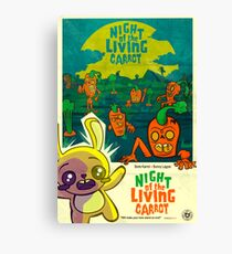 Night of the Living Carrot! Canvas Print