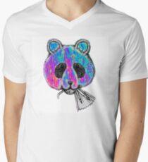 Trippy Panda Men's V-Neck T-Shirt