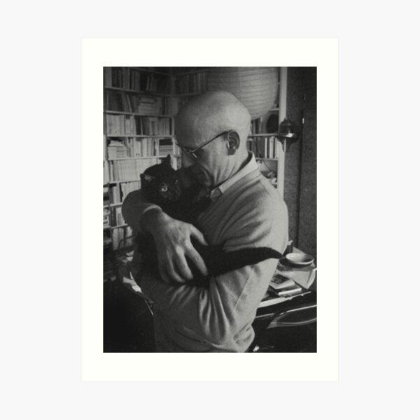 Foucault et un chat Impression artistique