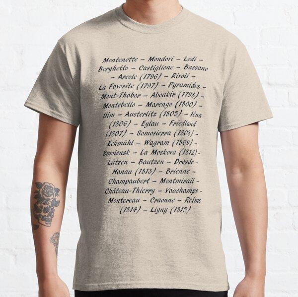 Victoires de Napoléon T-shirt classique