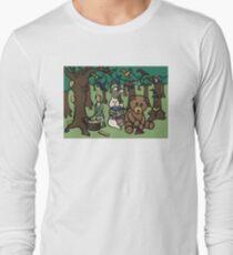 Teddy Bear And Bunny - Paper Swans Long Sleeve T-Shirt