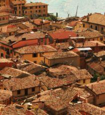 Rooftops of Malcesine Sticker