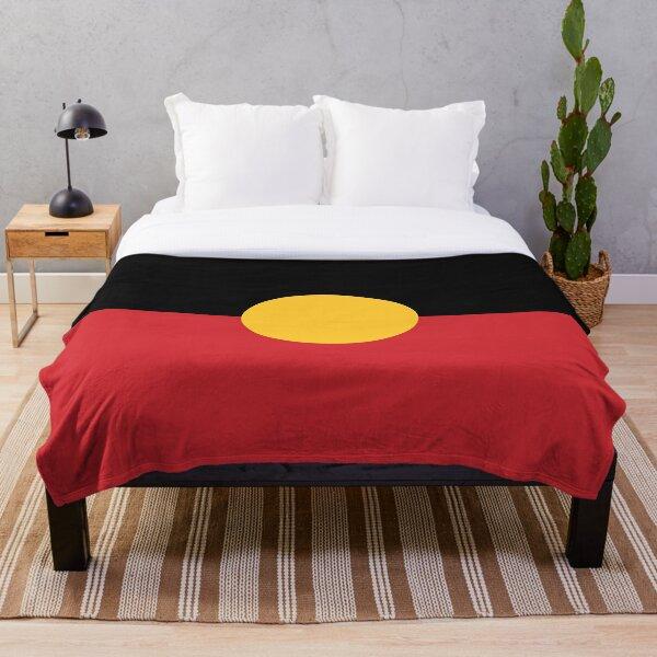 Aboriginal Flag #3 Throw Blanket