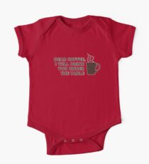 Drinking Coffee Under the Table One Piece - Short Sleeve