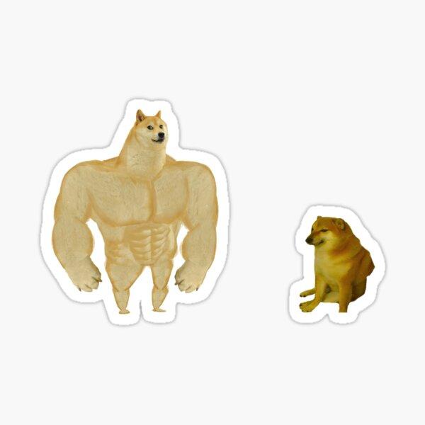 Swole Doge vs. Cheems Sticker