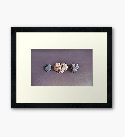 Earth's Hearts Framed Print