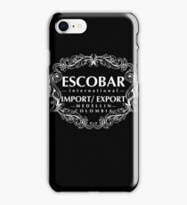 Escobar Import and Export WHITE iPhone Case/Skin