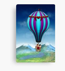 Flying Pig - Balloon - Up up and Away Canvas Print