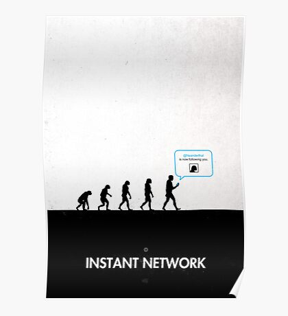 99 Steps of Progress - Instant network Poster
