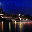 Oberbaum Bruecke ( bridge ) Berlin Germany by pdsfotoart