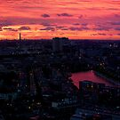 Rotterdam at Sunset, from Euromast by George Row