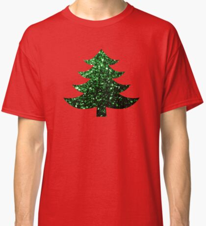 Sparkly Christmas tree green sparkles  Classic T-Shirt