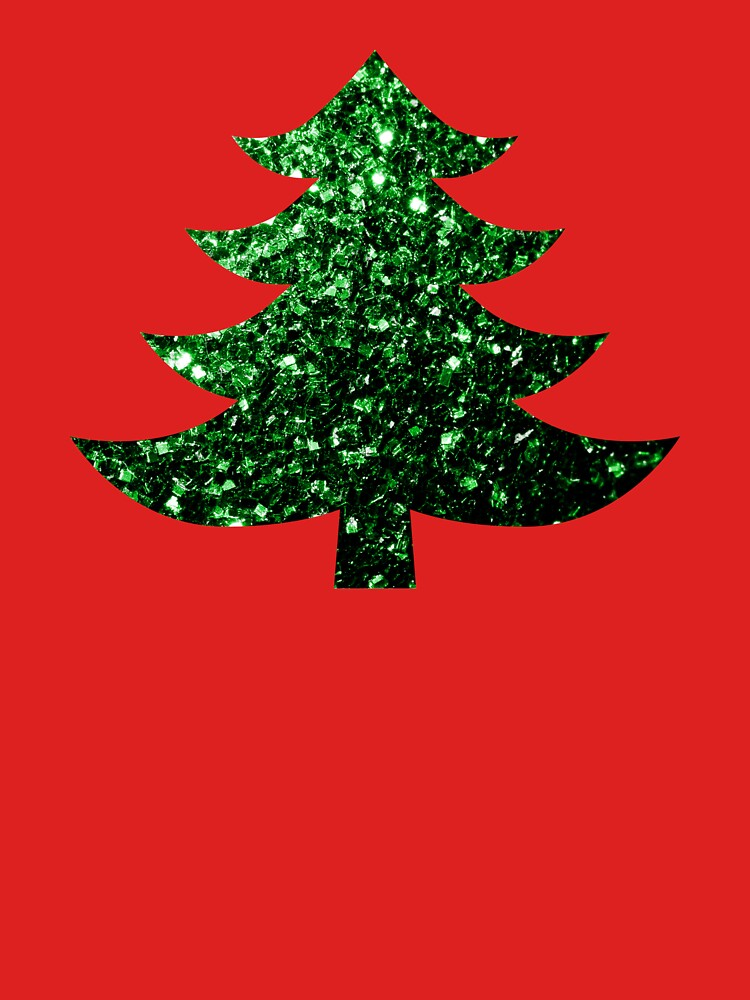Sparkly Christmas tree green sparkles  by PLdesign