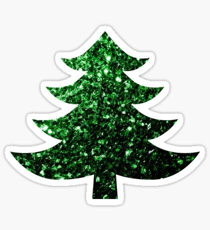 Sparkly Christmas tree green sparkles  Sticker