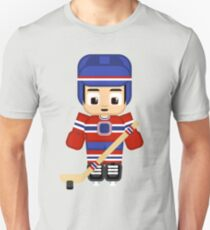 Super cute sports stars - Ice Hockey Blue and Red Unisex T-Shirt