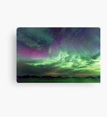 Green & Purple sky Canvas Print