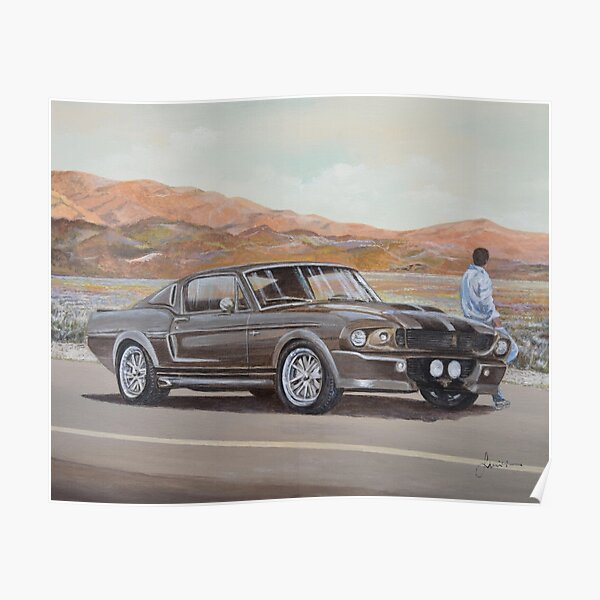 1967 Ford Mustang Fastback Eleanor Poster