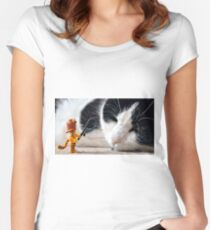 Cat-Woman Women's Fitted Scoop T-Shirt