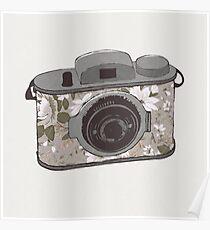 Floral Camera 1 Poster