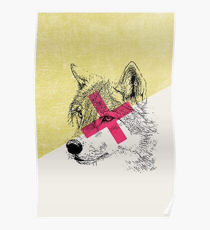 Techno Wolf Poster