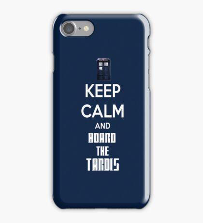 Keep Calm And Board The Tardis Phone case iPhone Case/Skin