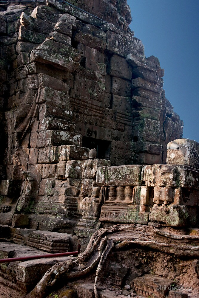 Angkor Thom Balcony by phil decocco