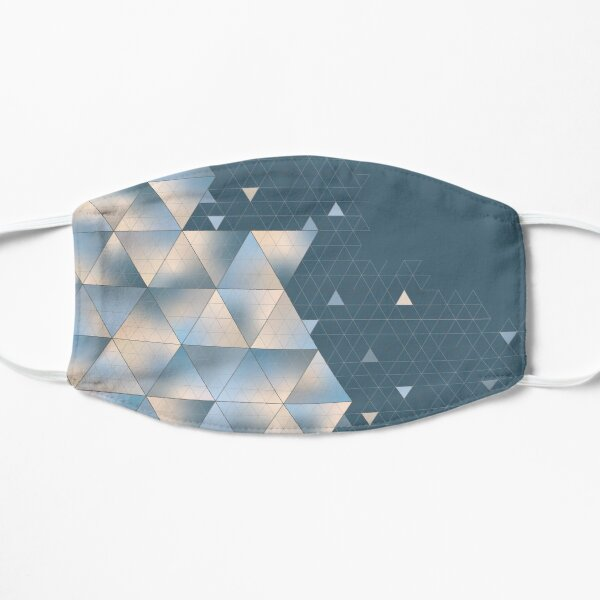 Pastel Geometric Triangles Design Mask