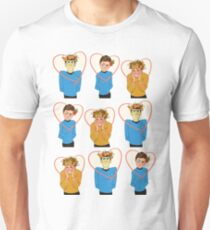 Set of Spock, Jim Kirk, and Bones valentines Unisex T-Shirt