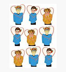 Set of Spock, Jim Kirk, and Bones valentines Photographic Print