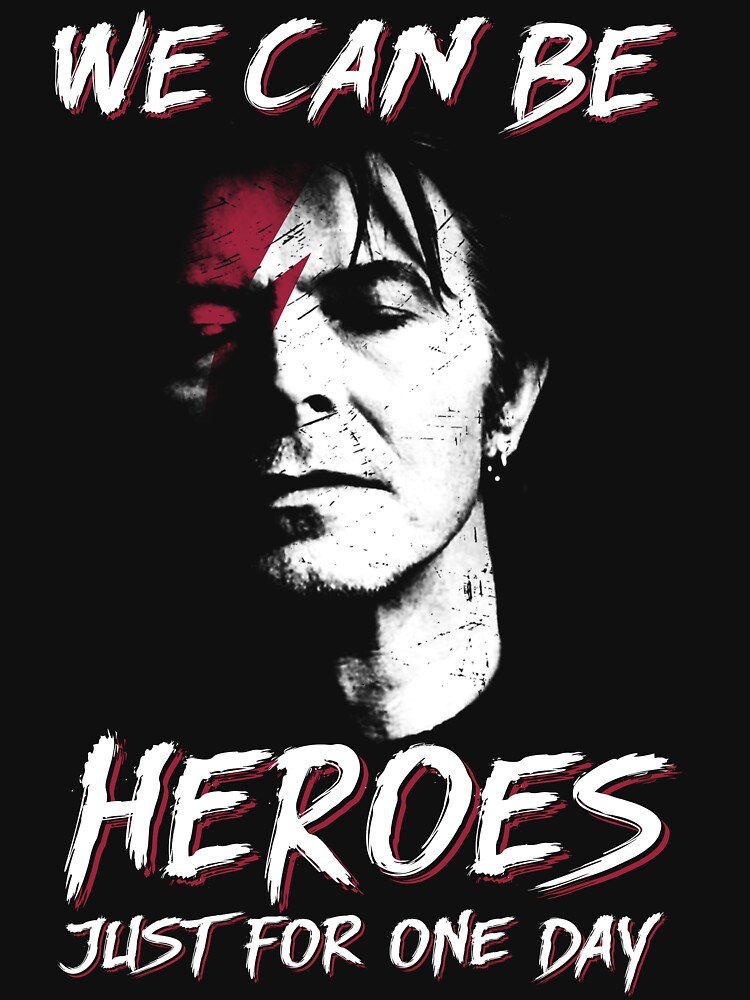 We can be heroes david shirt bowie smoking gift for fans and lovers vintage gift by Franhleen23