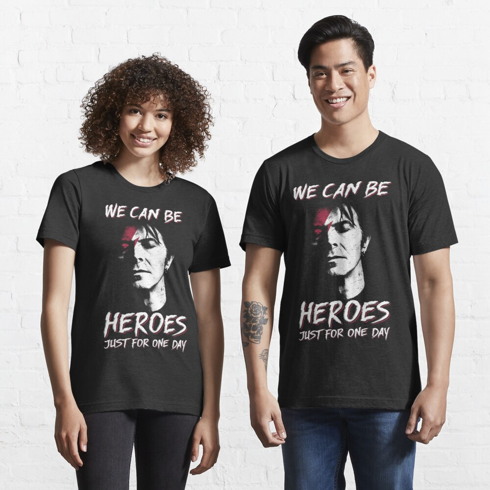 We can be heroes david shirt bowie smoking gift for fans and lovers vintage gift Essential T-Shirt