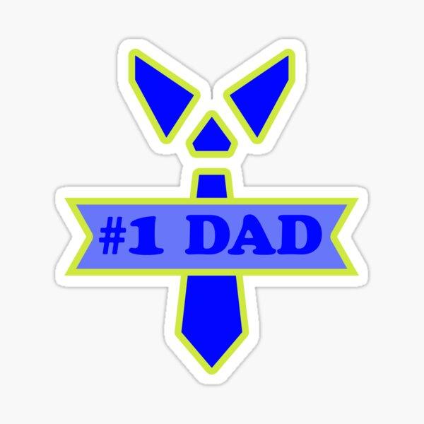 #1 Dad - Tie Sticker