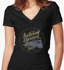 Railroad Revival contest entry Women's Fitted V-Neck T-Shirt