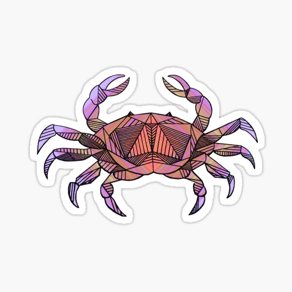 Cancer Crab Sticker