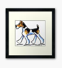 Wire Fox Terrier Trot Framed Print