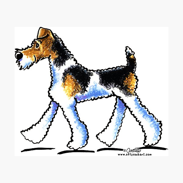 Wire Fox Terrier Wall Art Redbubble