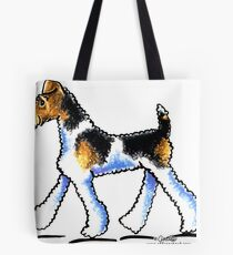 Wire Fox Terrier Trot Tote Bag