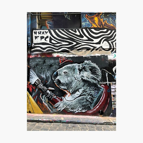 Koala Street Art (Australian Bushfires 2019-2020) Photographic Print