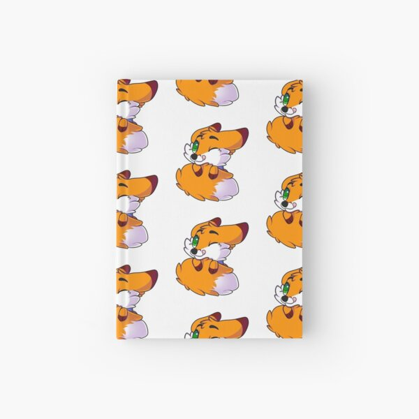 Chibi Fox Tail Fluff Hardcover Journal