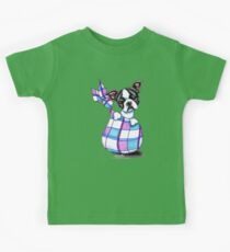 Boston Terrier Sack Puppy Kids Tee