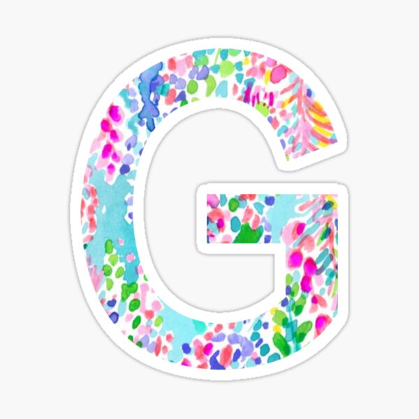 G Initial Sticker Sticker