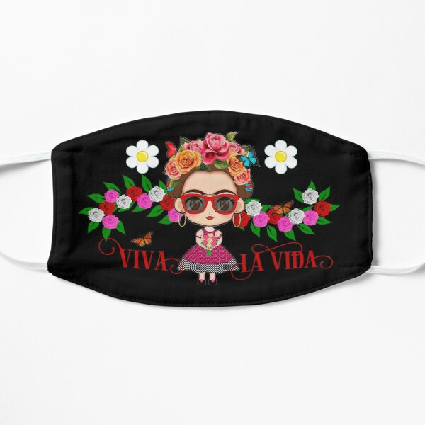 Frida Kahlo facemask - Cute Frida with red sunglasses Mask