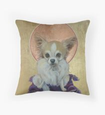 Long Haired Chihuahua as King Throw Pillow