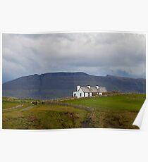 Cottage on the cliff top Mullaghmore Ireland Poster