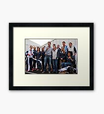 Olympic & Paralympic medal winners open the PSP Southampton boat show 2012 Framed Print