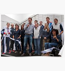 Olympic & Paralympic medal winners open the PSP Southampton boat show 2012 Poster