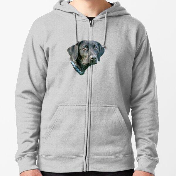 Zip Up Hoodie Dog Lab Mix Art Hooded Sweatshirt for Men