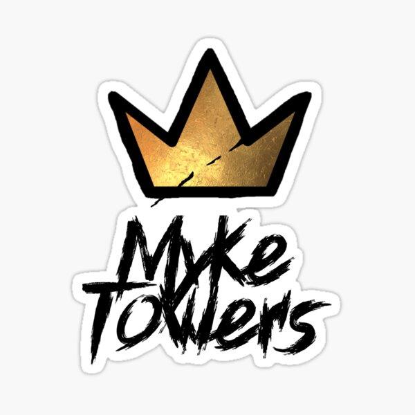 Etiqueta de Myke Towers y corona de graffiti Pegatina